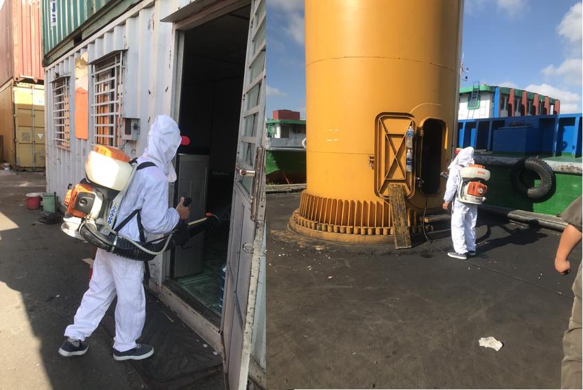 Phun thuốc khử trùng tại các cảng, kho hàng và phương tiện vận chuyển hàng hóa